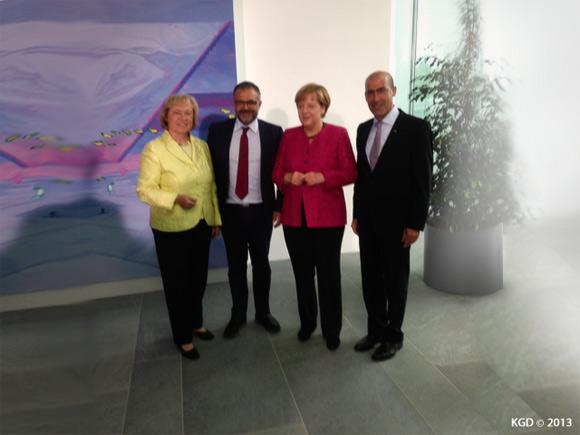 Prof. Dr. Maria Böhmer, Ali Ertan Toprak, Dr. Angela Merkel, Mehmet Tanriverdi