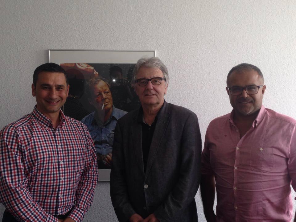 Cahit Basar,  Christoph Strässer , Ali Ertan Toprak