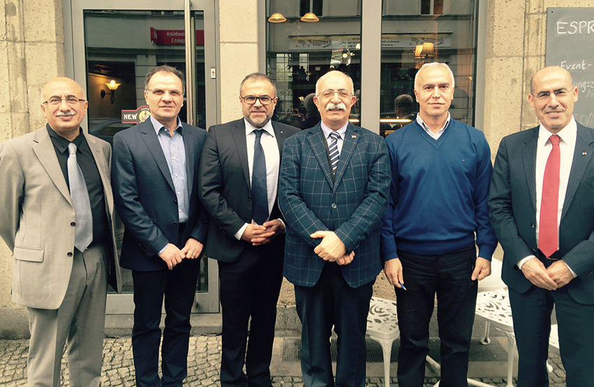 v.l.n.r.: Musa Ataman, Bayar Bamarni, Ali Ertan Toprak, Sertac Bucak, Hüseyin Sahin, Mehmet Tanriverdi.