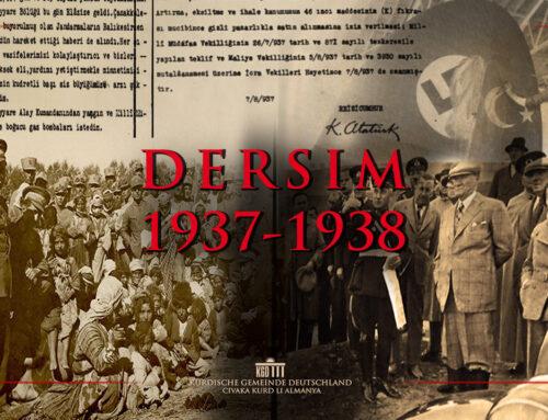 Die Kurdische Gemeinde Deutschland gedenkt den kurdisch-alevitischen Opfern des Genozids von 1937-1938 in Dersim