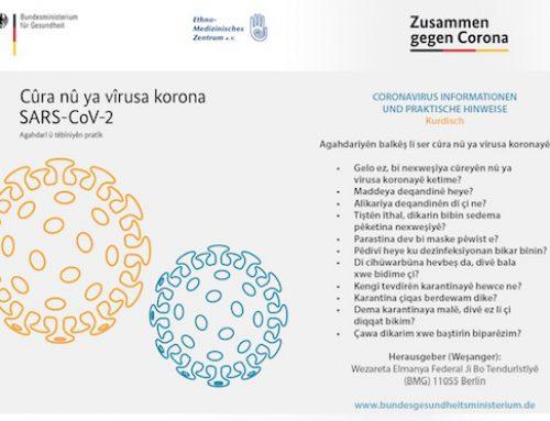 Cûra nû ya vîrusa korona – Agahdarî û têbîniyen pratîk / Coronavirus Informationen und praktische Hinweise: Kurdisch