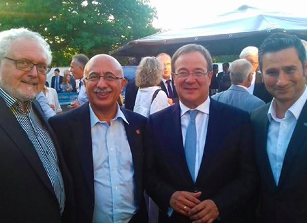 Michael Solf (CDU Mdl), Musa Ataman, Amin Laschet (Parteivorsitzender der CDU NRW) und Cahit Başar