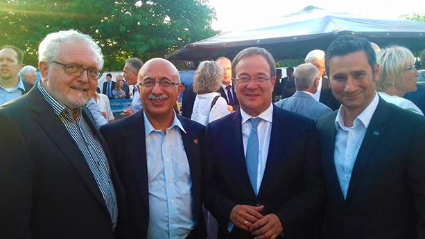 Michael Solf (CDU Mdl), Musa Ataman, Armin Laschet (Parteivorsitzender der CDU NRW) und Cahit Başar