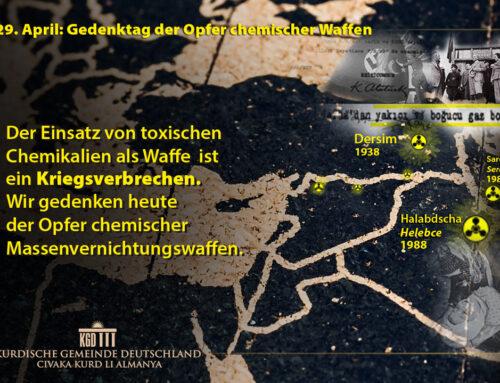 29. April: Gedenktag der Opfer chemischer Waffen