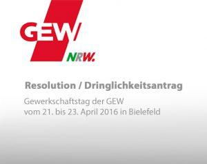 Resolution / Dringlichkeitsantrag