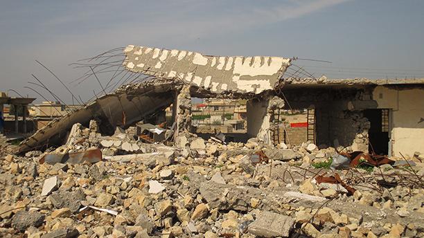 Der zerstörten Schule / Region Zumal - Süskurdistan Foto