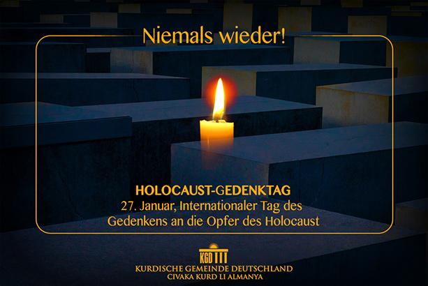 Holocaust Gedenktag Niemals Wieder Kurdische Gemeinde