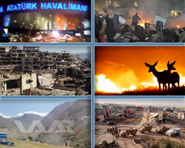 Istanbul, Sirnak (Tr), Lice (Tr), Mariwan (Iran), Nusaybin (Tr)