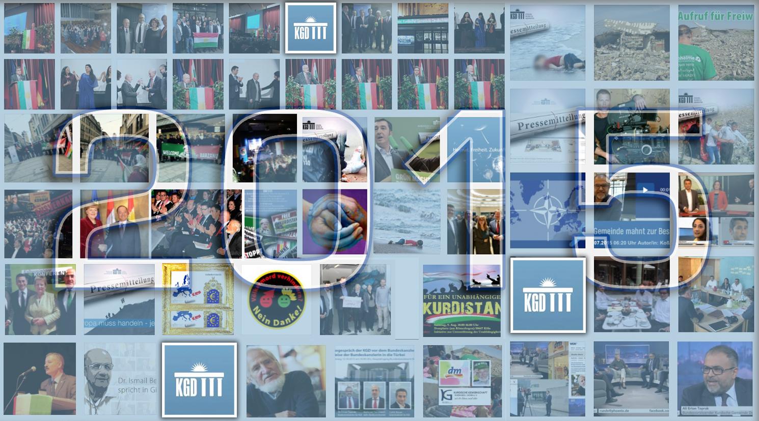 Jahresüberblick 2015: Ein Jahr voller Gegensätze geht zu Ende! Kurdische Gemeinde Deutschland