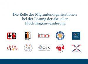Die Rolle der Migrantenorganisationen bei der Lösung der aktuellen Flüchtlingszuwanderung