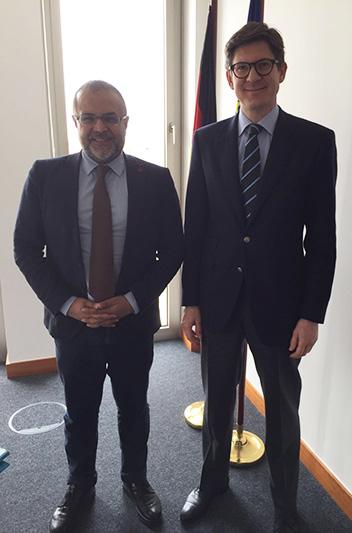 Treffen mit dem Parlamentarischen Staatssekretär Dr. Ole Schröder im Bundesministerium des Innern