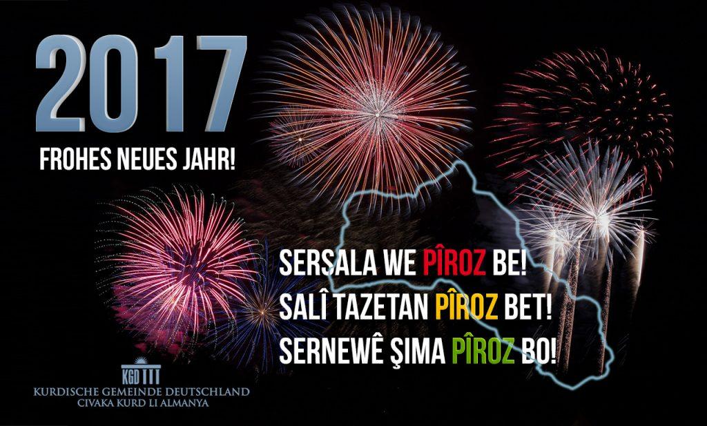 Frohes neues Jahr, Sersala we pîroz be / Salî tazetan pîroz bet ...