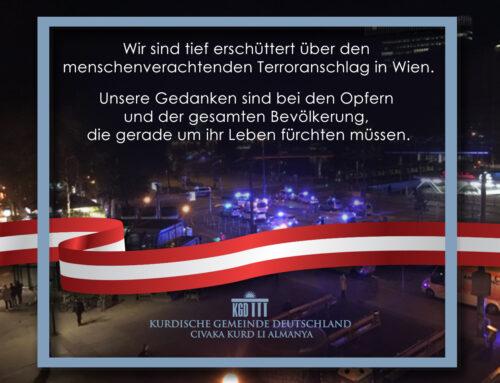 Wir sind tief erschüttert über den menschenverachtenden Terroranschlag in Wien