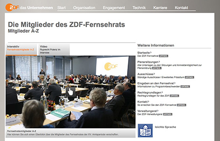 Foto: Screenshot der Internetseite ZDF.de
